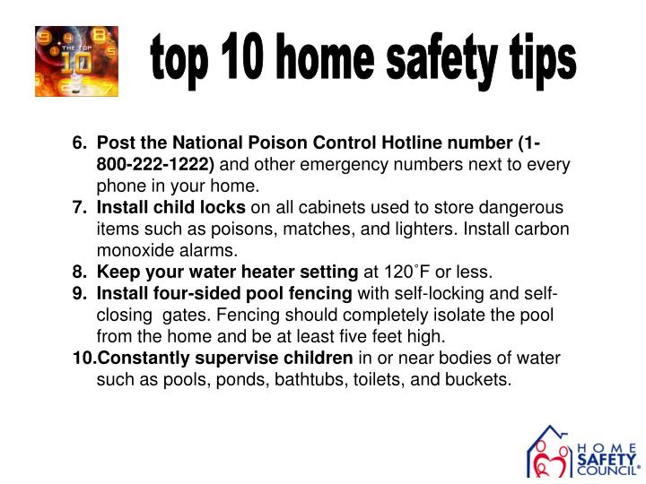 top 10 home safety tips