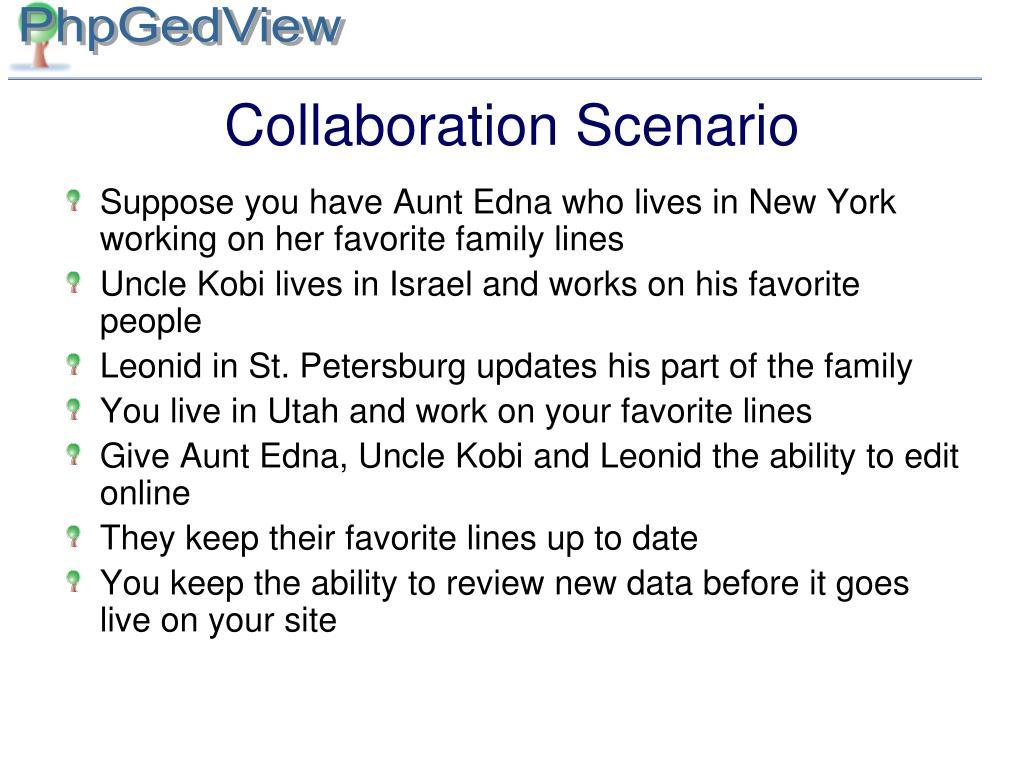 Collaboration Scenario