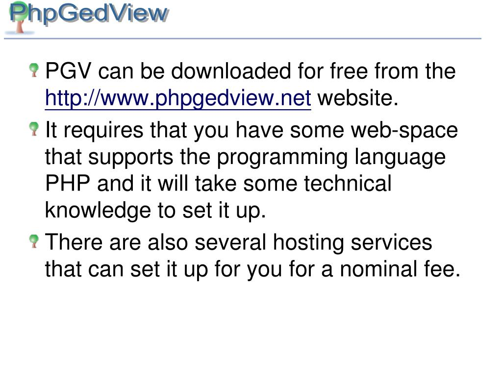 PGV can be downloaded for free from the