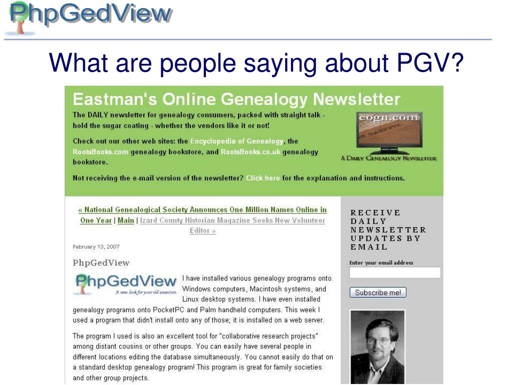 What are people saying about PGV?
