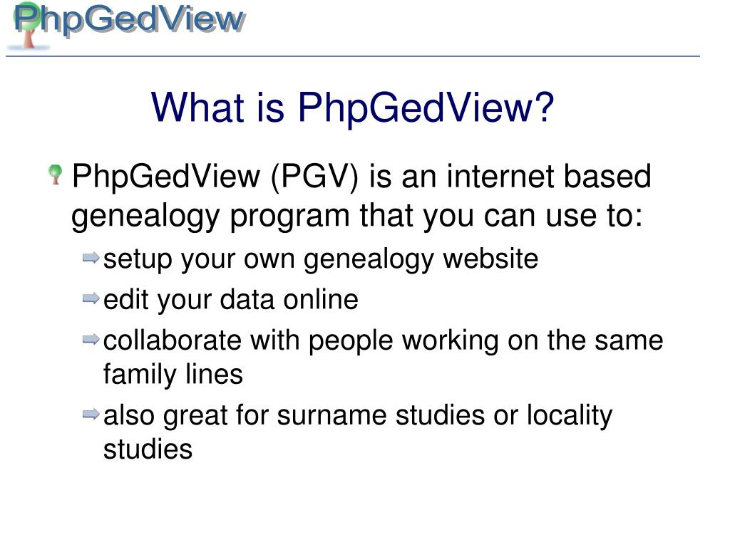 What is PhpGedView?