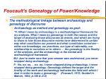 foucault s genealogy of power knowledge