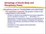 genealogy of docile body and disciplinary power55