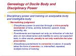 genealogy of docile body and disciplinary power61