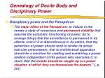 genealogy of docile body and disciplinary power67