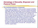 genealogy of sexuality biopower and pastoral power72