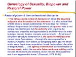 genealogy of sexuality biopower and pastoral power76