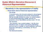 hyden white s narrative discourse historical representation24