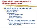 hyden white s narrative discourse historical representation25