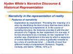 hyden white s narrative discourse historical representation26