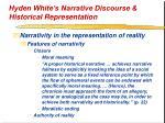 hyden white s narrative discourse historical representation27
