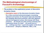the methodological shortcomings of foucault s archaeology