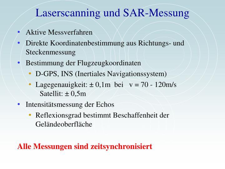 Laserscanning und SAR-Messung