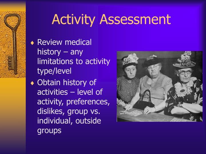 Activity Assessment