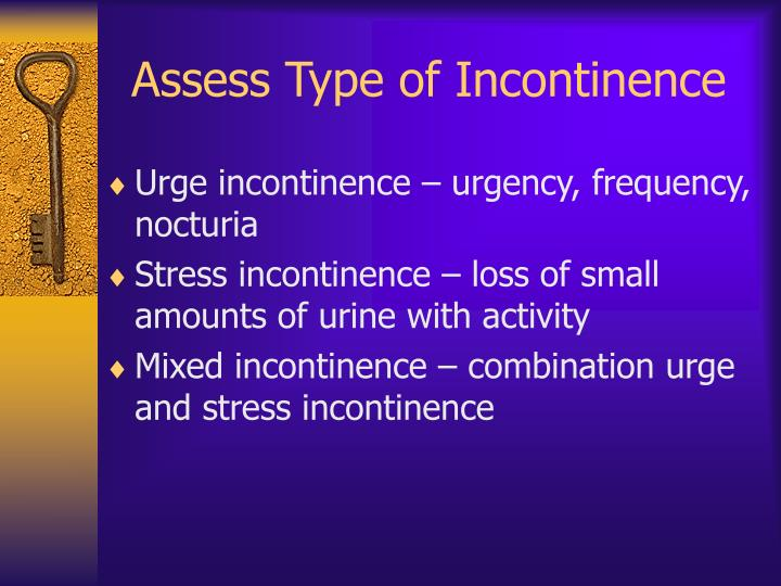 Assess Type of Incontinence