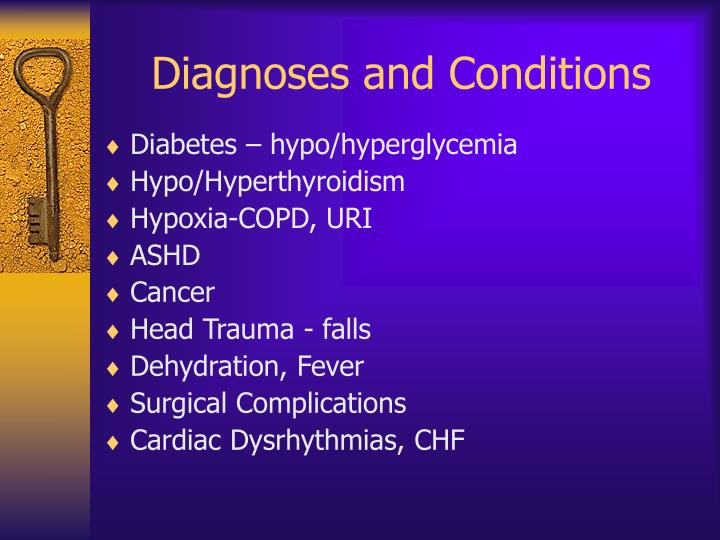 Diagnoses and Conditions