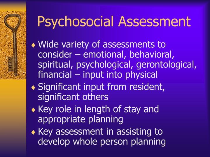 Psychosocial Assessment