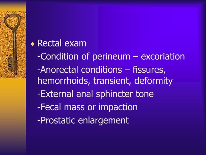 Rectal exam