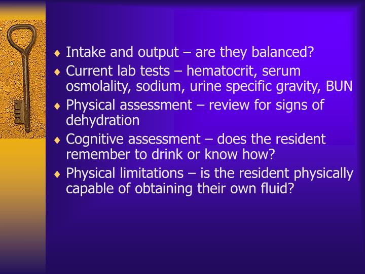 Intake and output – are they balanced?