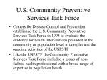 u s community preventive services task force