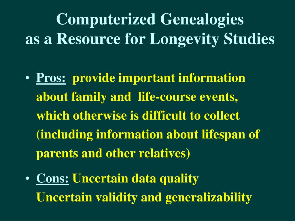 Computerized Genealogies