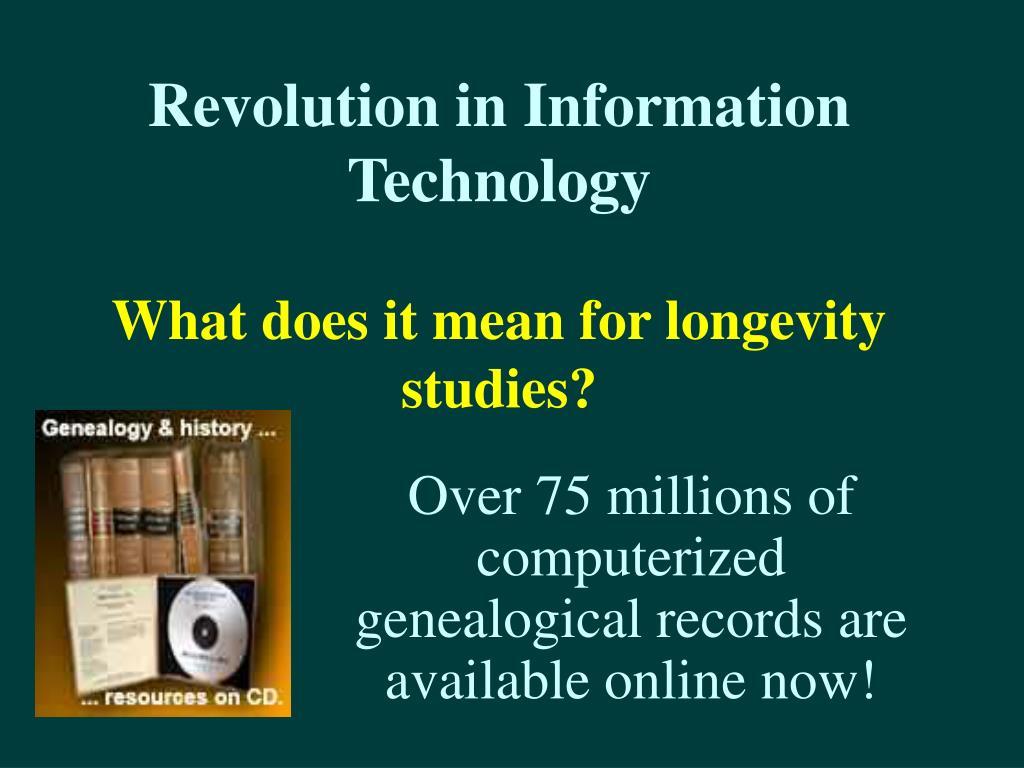 Revolution in Information Technology