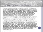 1 connection to community