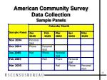 american community survey data collection sample panels
