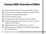 census 2000 overview of effort