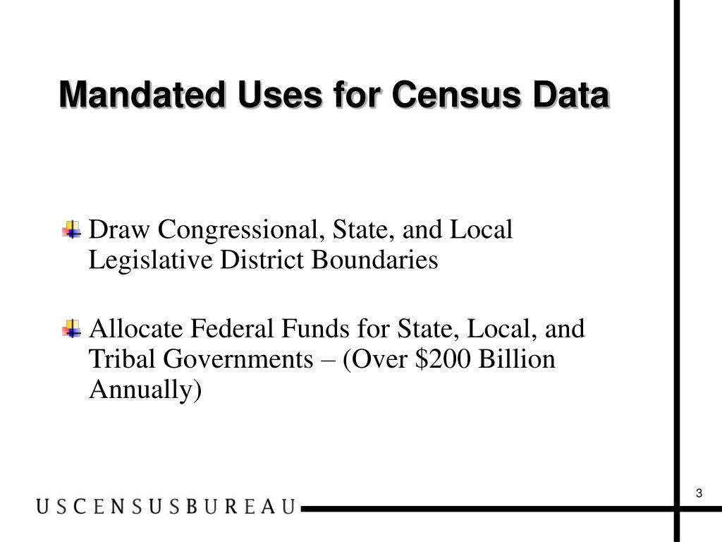 Mandated Uses for Census Data