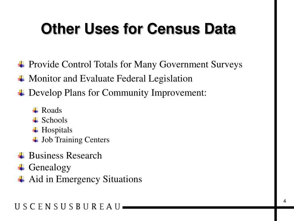 Other Uses for Census Data