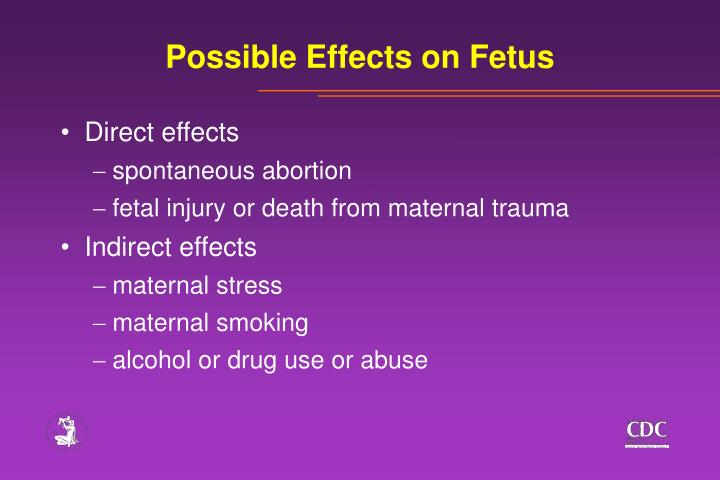 Possible Effects on Fetus