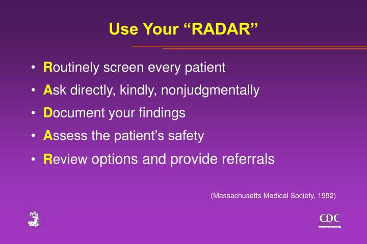 "Use Your ""RADAR"""