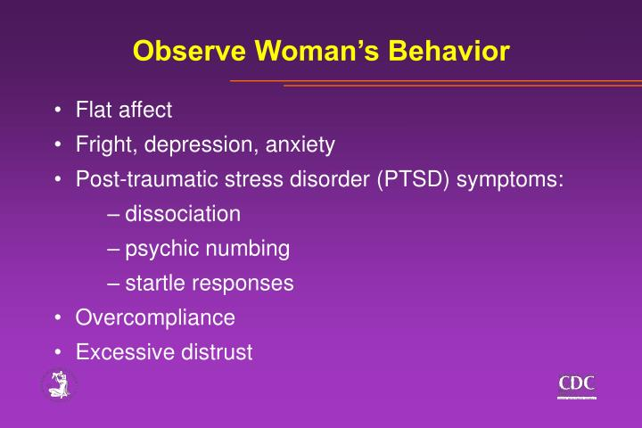 Observe Woman's Behavior