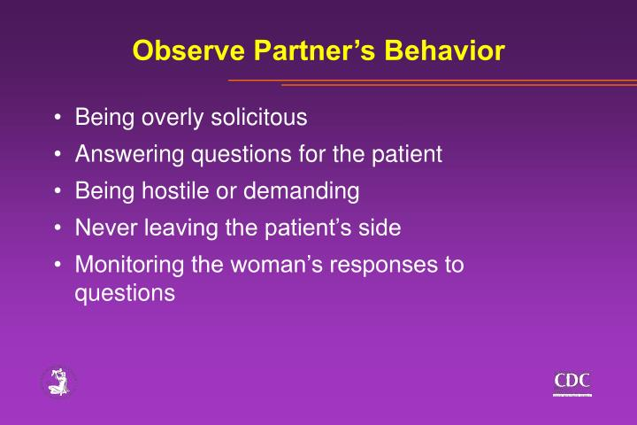 Observe Partner's Behavior