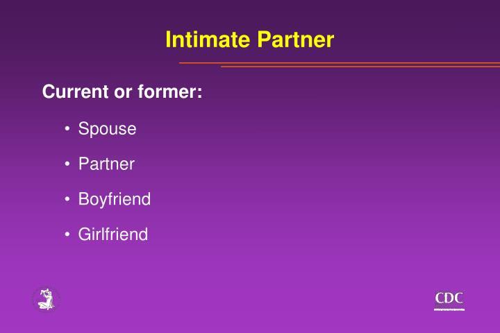 Intimate Partner