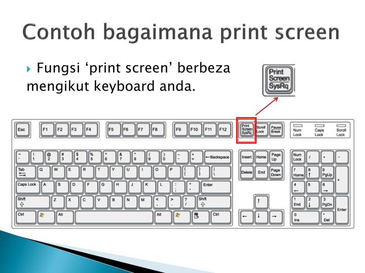Contoh bagaimana print screen