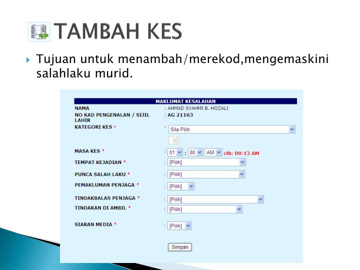 TAMBAH KES