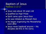 baptism of jesus matthew 3 13 17