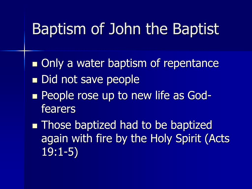 Baptism of John the Baptist