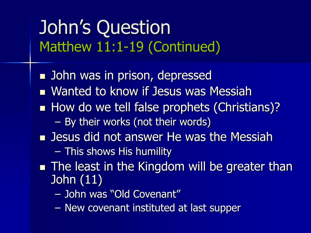 John's Question