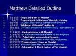 matthew detailed outline