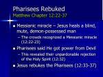 pharisees rebuked matthew chapter 12 22 37