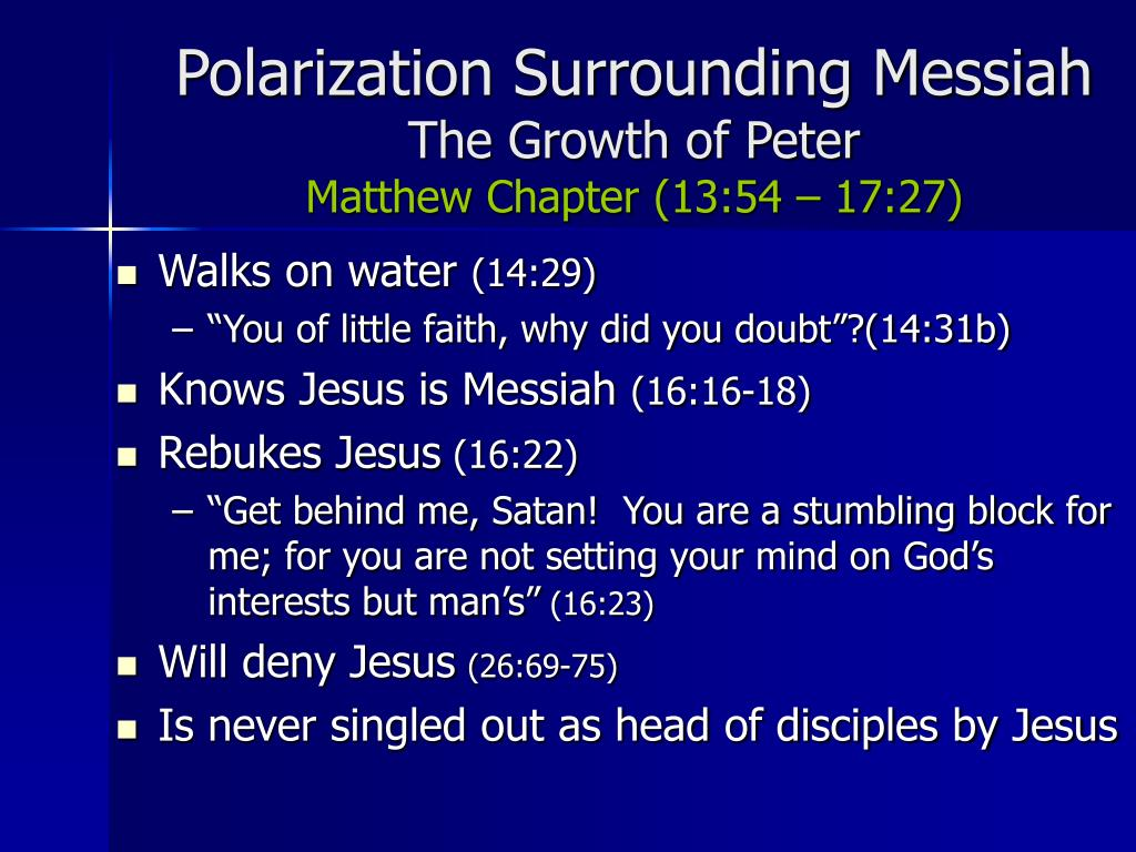 Polarization Surrounding Messiah