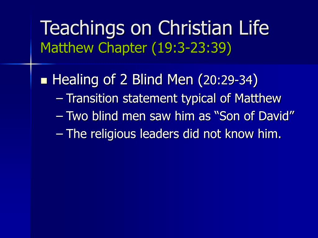 Teachings on Christian Life