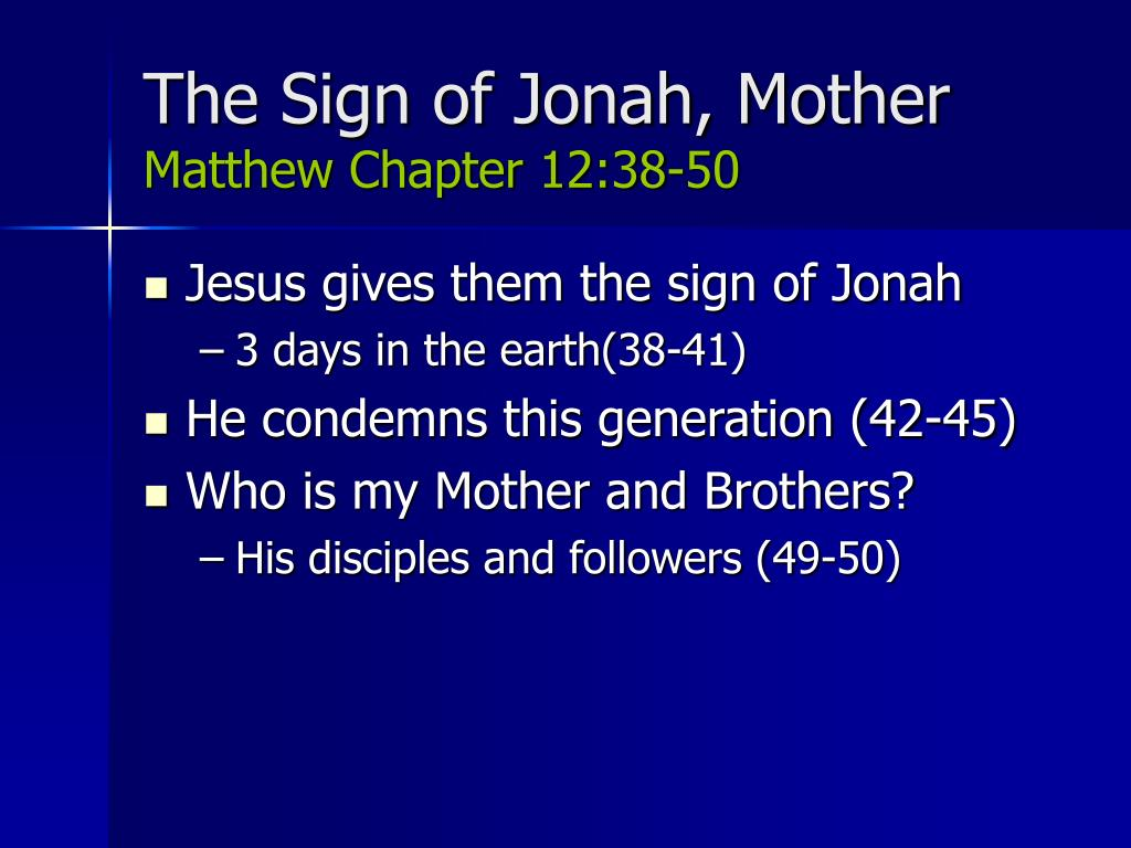 The Sign of Jonah, Mother