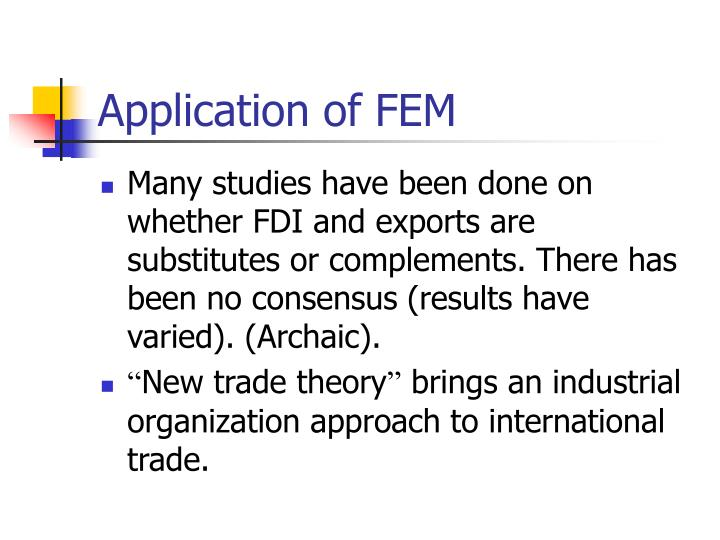 Application of FEM