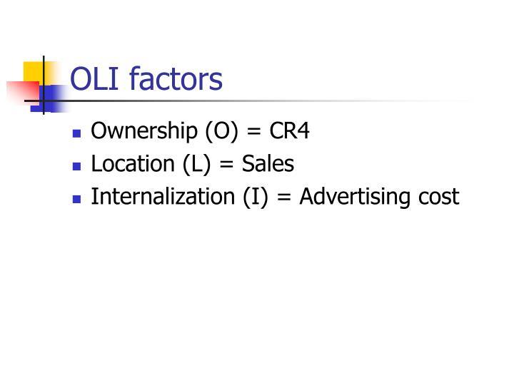 OLI factors