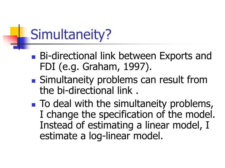 Simultaneity?
