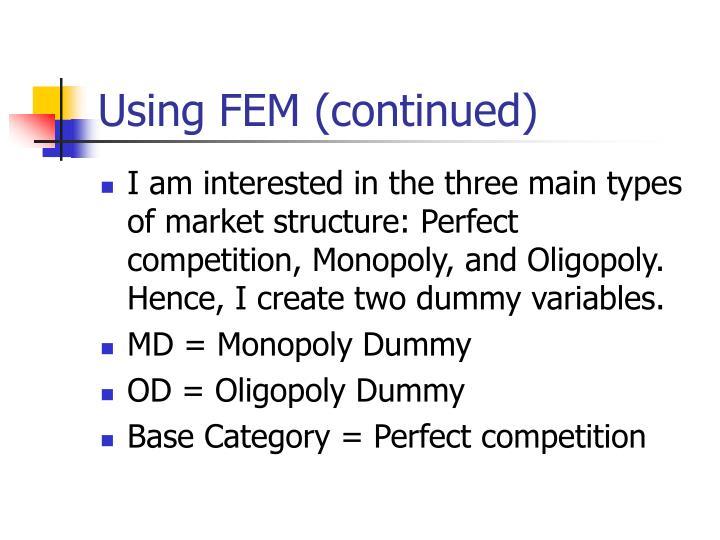 Using FEM (continued)